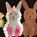 Easy Easter Craft – Cardstock Easter Bunny DIY