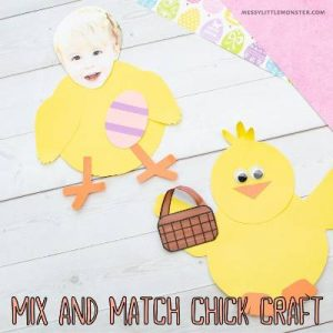 Card stock easter chick