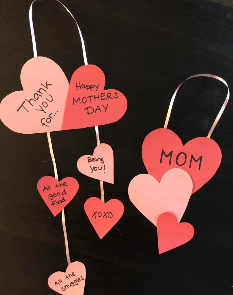 Heart shaped mothers day
