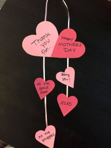 diy mother's day heart craft
