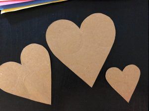 DIY heart stencil for mother's day craft