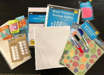 supplies busy book