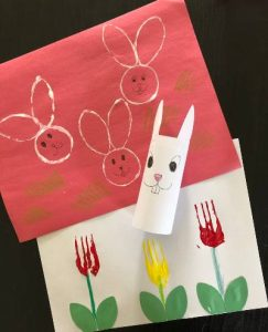 Easter craft toilet paper