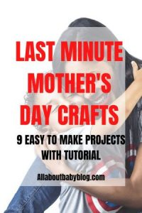 last minute mother's day crafts