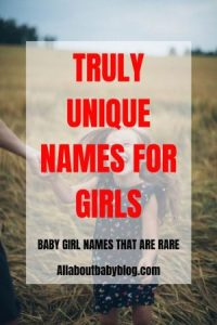 Find the perfect name for your baby girl with this list of truly unique names that are not overused yet. #babynames #uniquenames #babygirlnames #nameideas