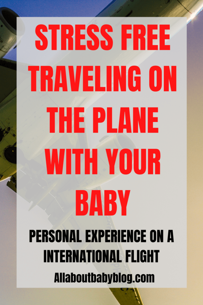 Traveling on the plane with baby