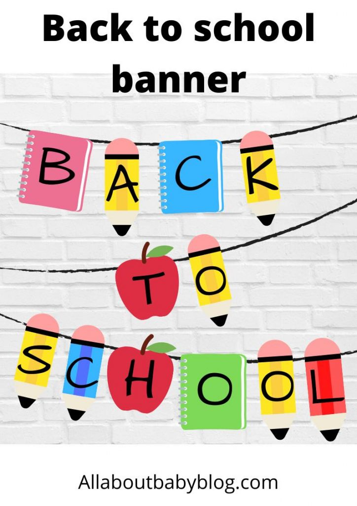 free printable back to school banner