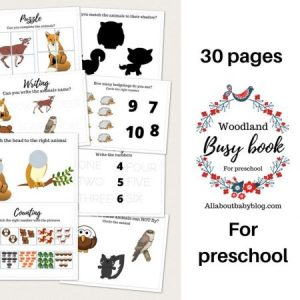 printable busy book preschool woodland