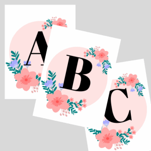 nursery decor ABC