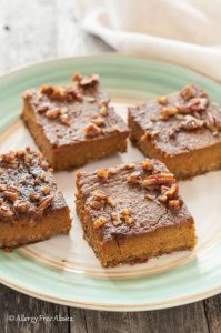 pumpkin pie bars gluten free