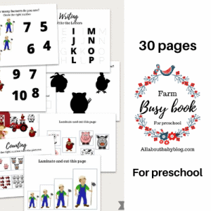 busy book printable