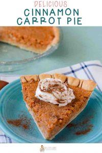Carrot pie with cinnamon