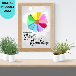rainbow baby nursery print