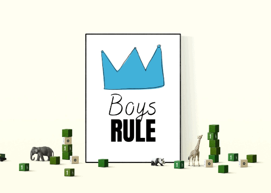 Boys rule printable wallart