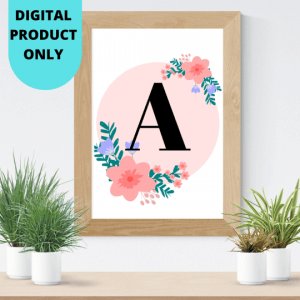 nursery wallart ABC all 26 letters