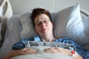 women in the hospital for hyperemesis gravidarum