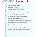 baby milestone checklist 2 months free