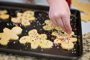 bake christmas cookies with kids tradition