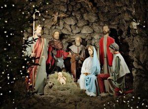 Baby jesus traditional crib