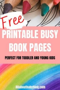 free printable busy book pages