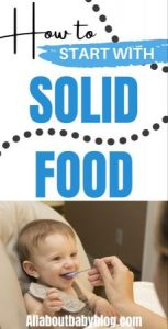 How to start your baby on solid food