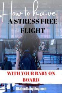 stress free flight with baby