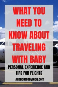 Traveling on the plane with your baby