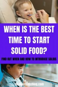 When to start solid food for babies
