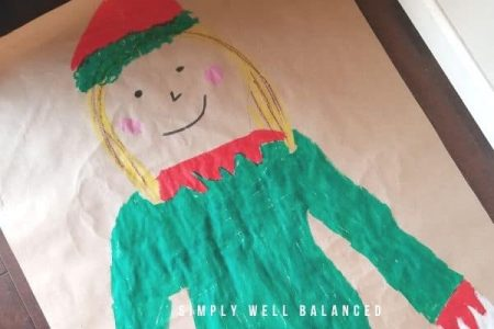 Christmas body tracing activity for kids