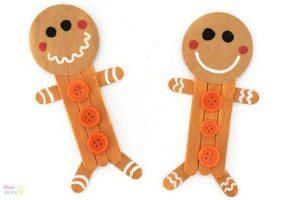 Ice cream stick gingerbread man craft