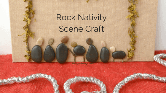 Nativity holy night scene with rocks christmas craft