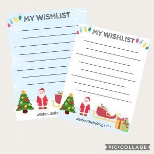 printable christmas wishlist
