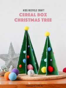 Christmas trees from cereal boxes DIY