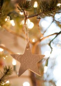 Diy Star lace ornament