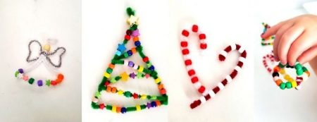 Pipecleaner christmas ornaments diy