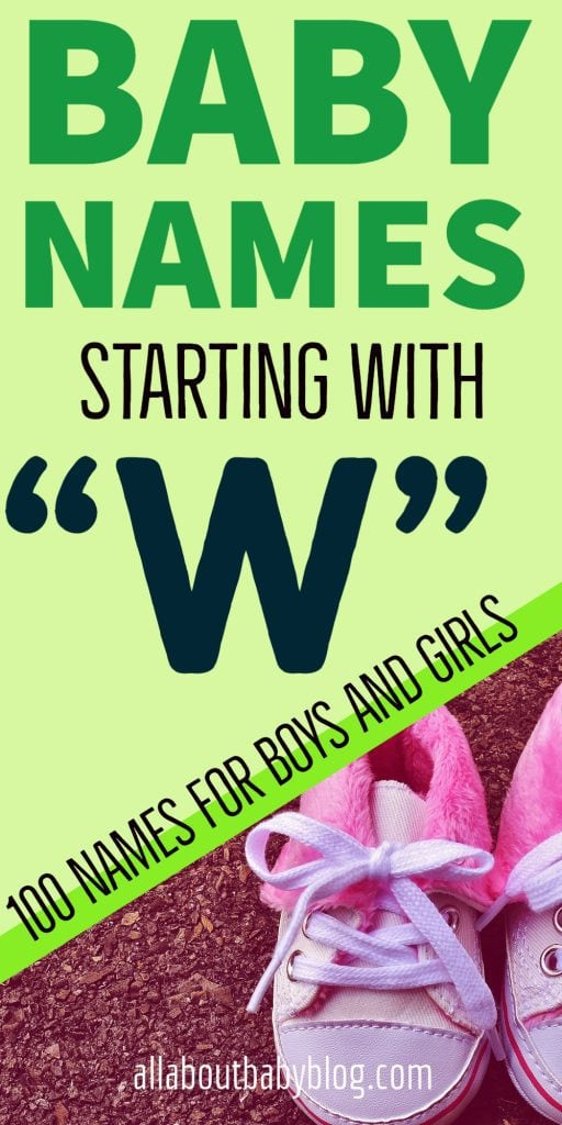 Baby names starting with the letter W