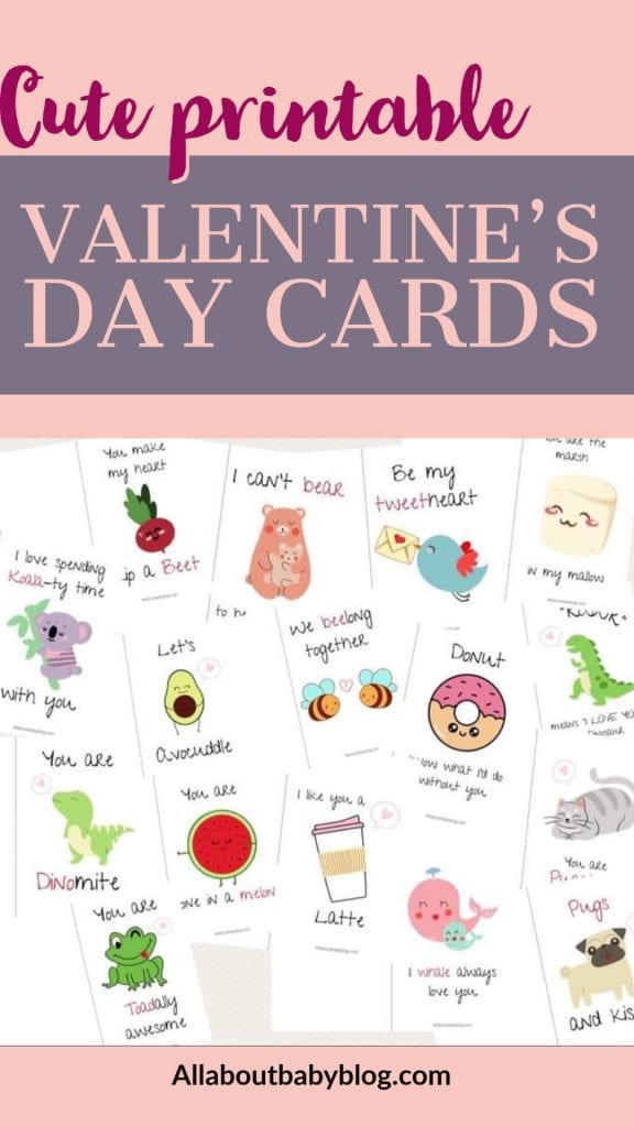 cute printable valentine's day cards for kids to print at home