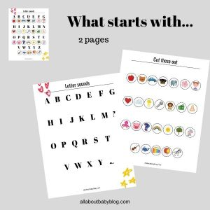 ABC worksheet starting sounds