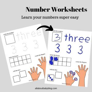 Numbers 1-10 worksheets for preschool