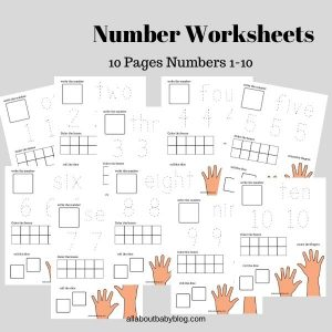 Worksheet numbers 1-10 preschool