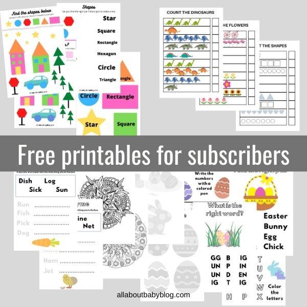 free printable worksheets preschool