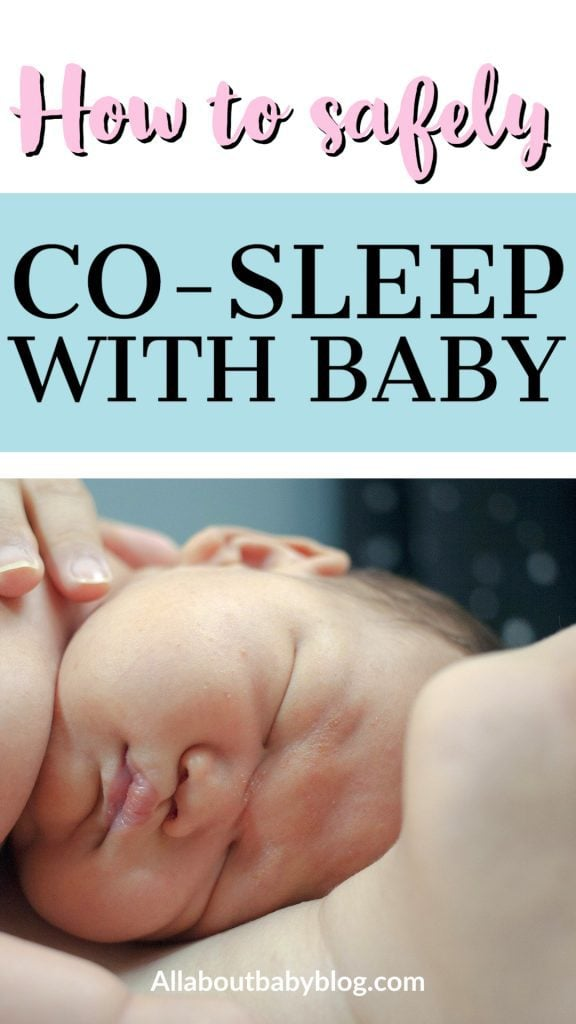 how to safely co-sleep with your newborn baby