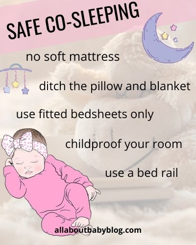safe co-sleeping checklist for new parents
