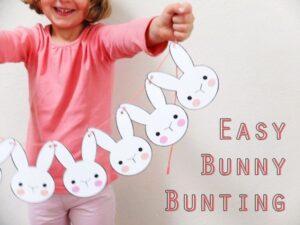 Easter bunny garlande