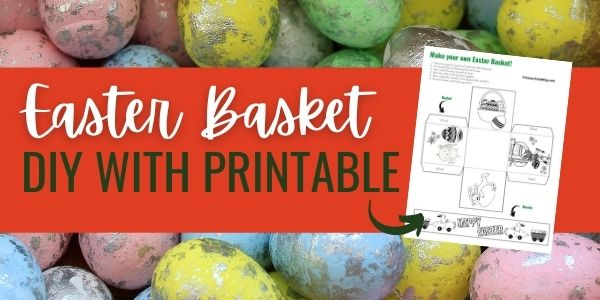 make your own easter basket with card stock