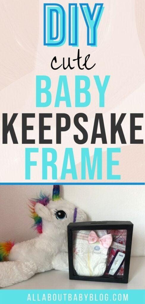 baby memory shadow frame diy