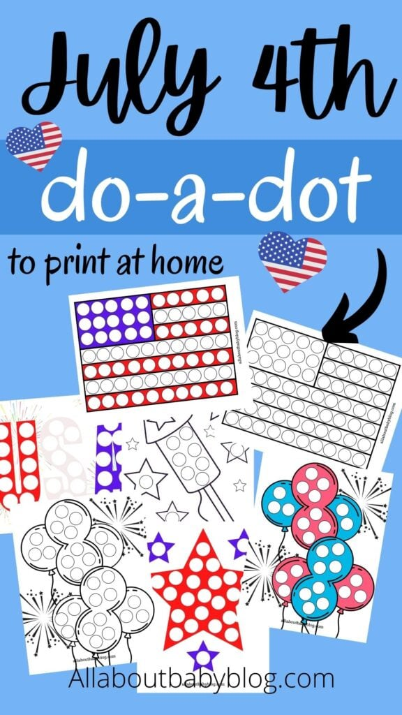 free patriotic do a dot printables for kids july 4th