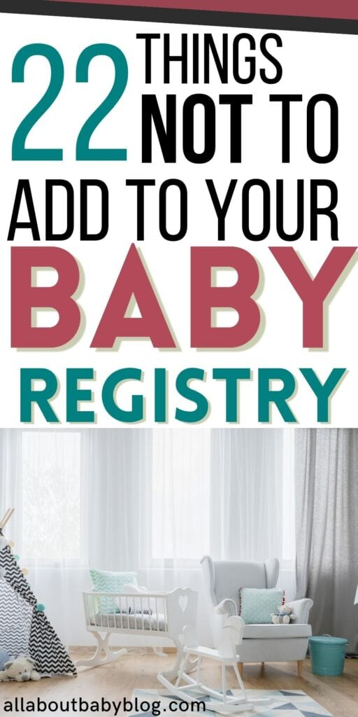 What not to add to your baby registry