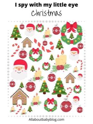 Print at home I spy game christmas