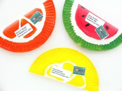 paper plate envelopes with fruit themes